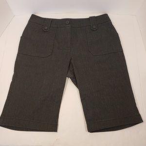 New York and Company Charcoal Gray Bermuda Shorts